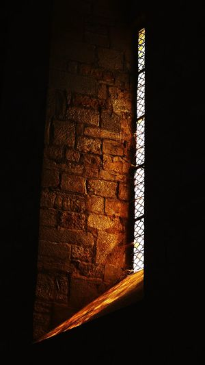 Light And Shadow Architectural Detail Church Indoors  Architecture No People Window Pattern Wall - Building Feature Built Structure Sunlight Dark Glass - Material Building Shadow Illuminated Day