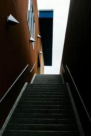 Going up. Architecture School Clay Stairs Abstract Cool Grunge Nikon 35mm