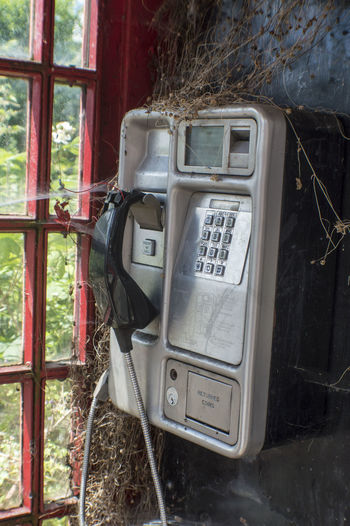 Old telephone booth