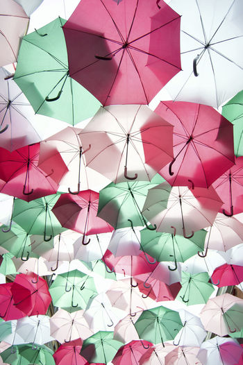 Cute umbrellas installation in the city Art City Colorful Colors Eye4photography  EyeEm Best Shots EyeEmBestPics Green Pink Umbrella