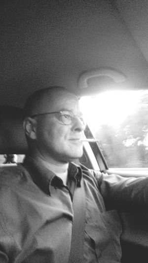 That's Me Driving Traveling On the way to Stockholm. Last sightseeing tomorrow.