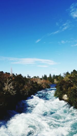 Huka Falls, NZ Scenics Clear Sky Beauty In Nature Nature Water