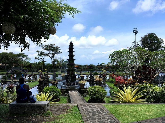 Pentax Sky Temple Traveling Travel Destinations INDONESIA Bali ASIA Tree Religion Spirituality Sky Cloud - Sky Architecture Outdoors Beauty In Nature Day Nature