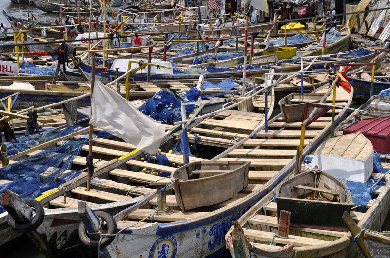 Traditional pirogue fishing boats