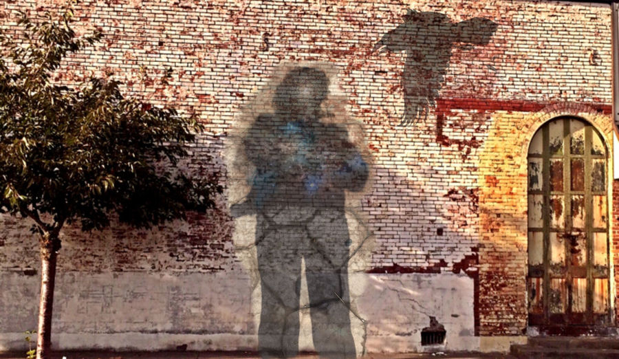 Getting Creative My shadow and that of a raven cast on a distressed brick wall in Harrisburg, OR. Bazaart ✌️ Shadow Dancer Light And Shadow UrbanART App Smashing Filter Fun Street Life The Architect - 2016 EyeEm Awards