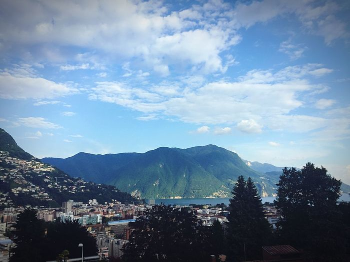 Mountain Sky Mountain Range No People Beauty In Nature Building Exterior Architecture Outdoors Day Tree Nature Scenics Lugano Lake Lugano Lugano, Switzerland Luganocity Nature Tranquility Lake Tranquil Scene