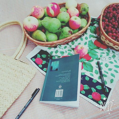A Good Day It Is.! Best Eyeem Shots Lovley Place Fruitbasket Cherrys Apples Pears Book Pencil Tablecloth