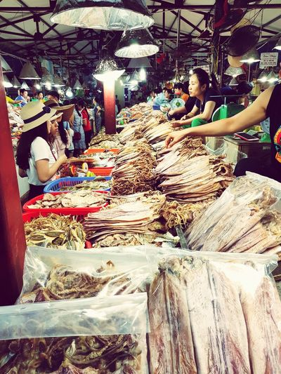 Seafood Market Stall Fish Market Market Stall Fishing Industry Market Abundance Various Dried Fish