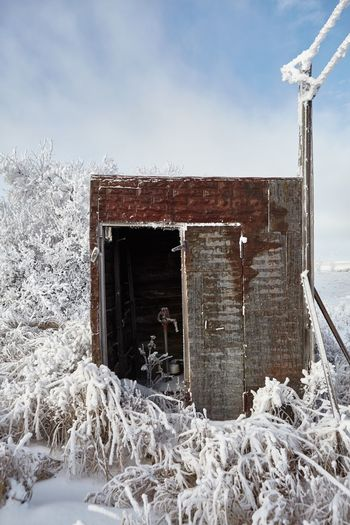 abandoned well Homestead Farmstead North Dakota NoDak Ice Waterwell Rurex Abandoned Cold Temperature No People Winter Day Built Structure Snow Architecture Outdoors Nature