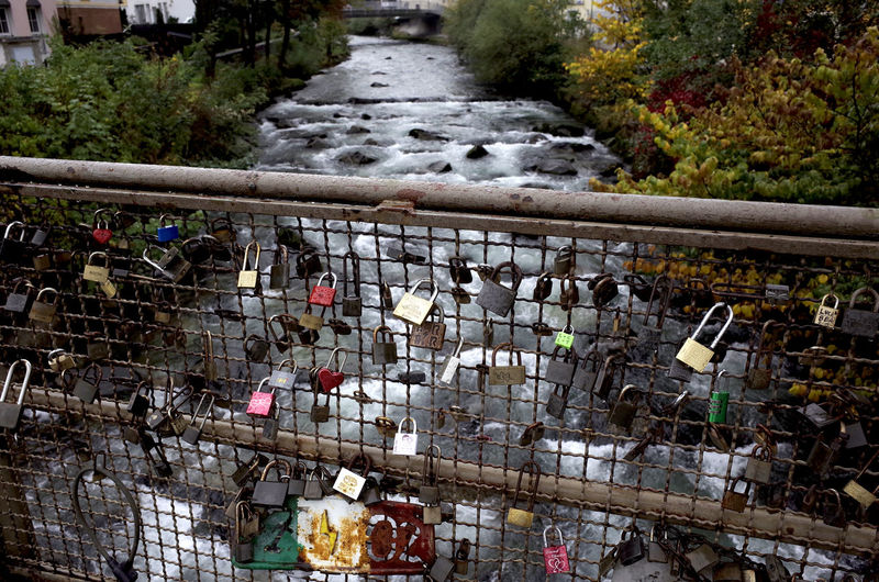 remember me Autumn Colors Bridge City City Life Cityscape Cityscapes Famous Place High Angle View Locks Pedestrian Walkway Railing Remembering River Stone Material Travel Destinations Urban Lifestyle