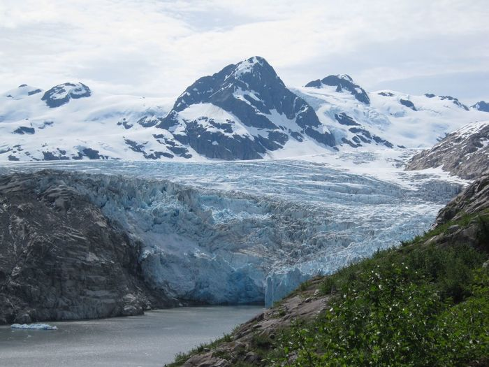 Ice Age Alaska Glacier Water Ice Mountains Snow Glacier Calving Nellie Juan Glacier