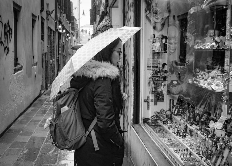 Black And White Documentary Photography People Streetphotography Travel Travel Photography Venice, Italy Window Shopping