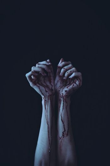 Hand Blood Dark Photography