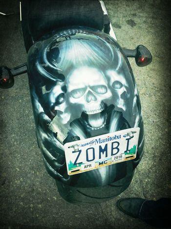 Gil's bike. Pretty :)