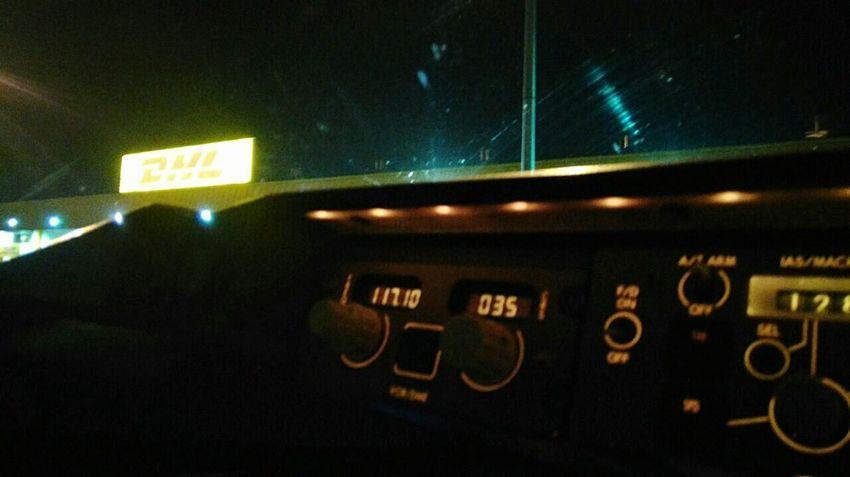DHL Express Transportation Technology Night Flight ✈