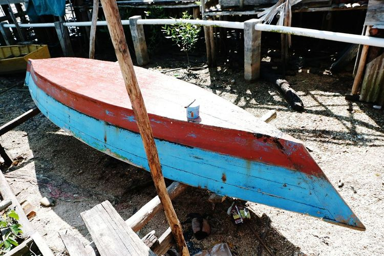 Outdoors Shadow Transportation No People Day Wood - Material Fishboat