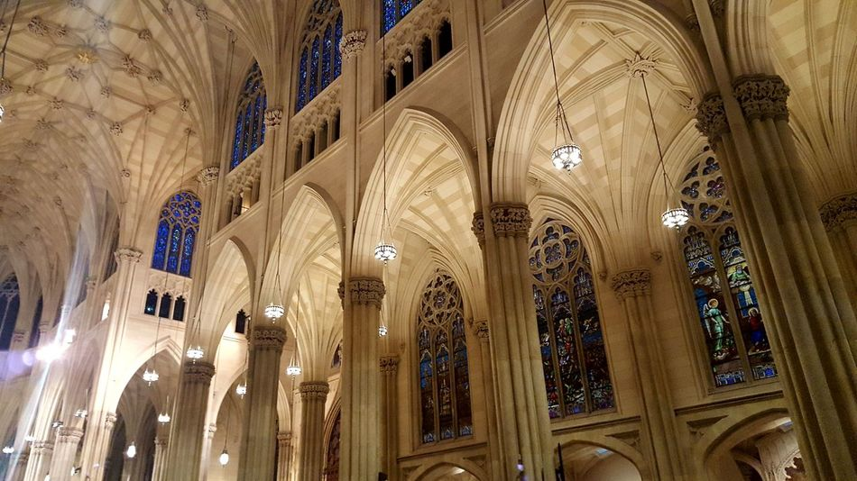St. Patrick's cathedral interior Place Of Worship Gothic Architecture Gothic Church Gothic Cathedral St Patrick's Cathedral New York City Cathedral Architecture No People House Of Worship Arch Archway