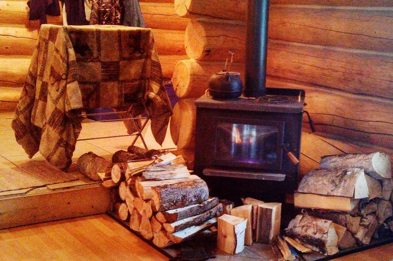 Home Is Where The Art Is Woodstove Fireplace Loghome Alaska Colour Of Life