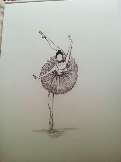 Sketching Charcoal Ballerina Ballett ArtWork