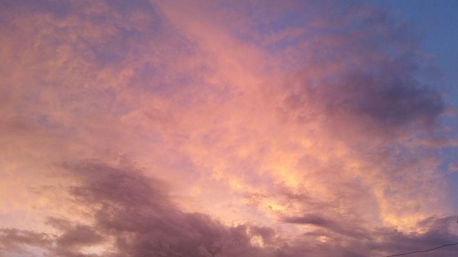 Dramatic Sky Cloud - Sky Orange Color Sunrise And Clouds Cielo Dramático Antes Paso María Be. Ready.