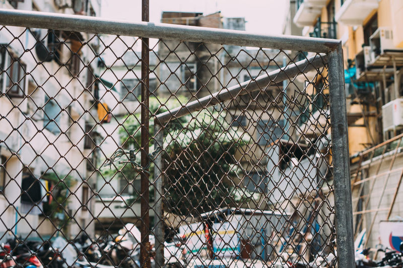 View of chainlink fence