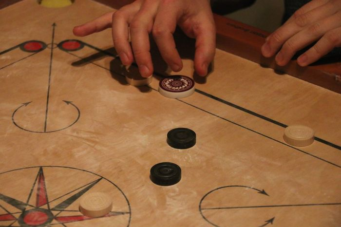Carrom Carromboard Human Hand One Person Human Body Part Indoors  Only Men One Man Only Close-up