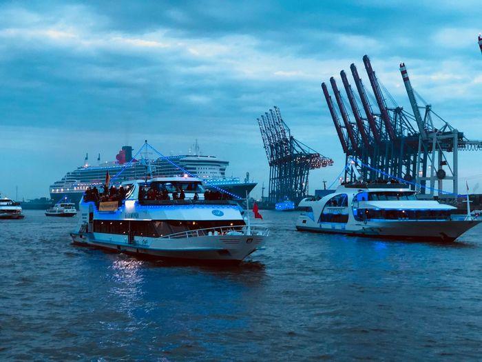 Transportation Mode Of Transportation Nautical Vessel Water Sky Cloud - Sky Sea
