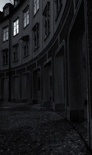 Architecture Built Structure Building Exterior Architectural Column Night Building No People City History The Past Gamla Stan Brantingtorget Window Outdoors Arch Street Residential District Old Absence Spooky Empty