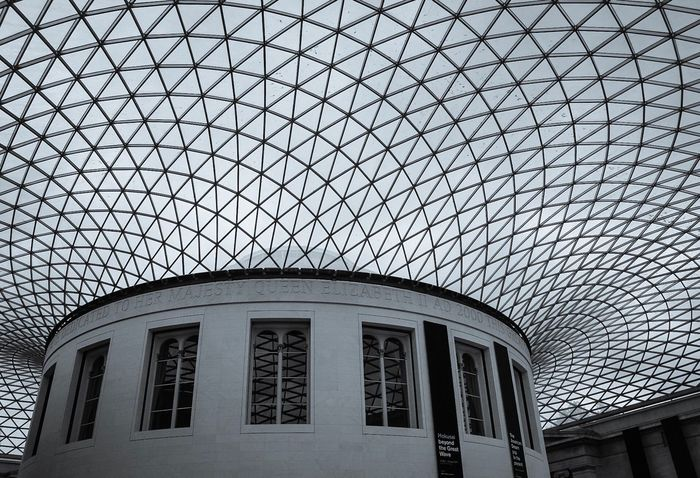 Architecture Window Built Structure Low Angle View Building Exterior Modern No People Day Indoors  Sky British Museum Ceiling Reading Room Library Places To Visit Places Of Interest British Museum Roof London