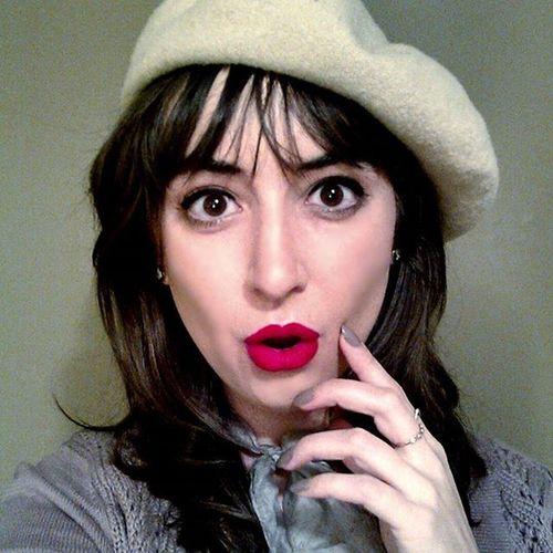 🌛🍸🍓🎥🎨🚬✨ Godard NewWave Frenchnewwave Annakarina frenchstyle redlips beret dancingfrenchyjazzyswing