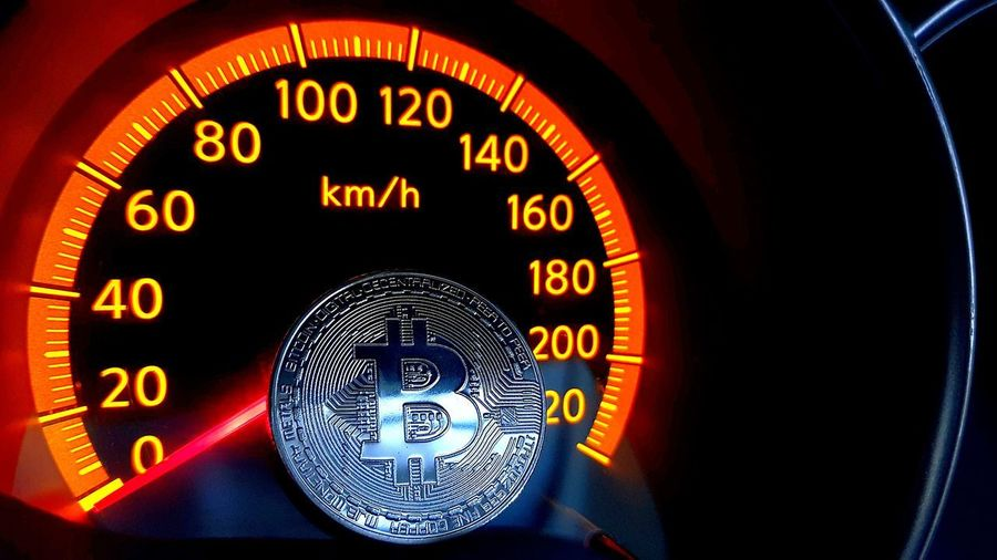 bitcoin how fast can it go Bitcoin Token Digital Currency Bitcoin Coin Cryptocurrency Bitcoins Bitcoin Bitcoin Trading Bitcoin Currency Car No People Full Frame Technology Speedometer Indoors  Black Background