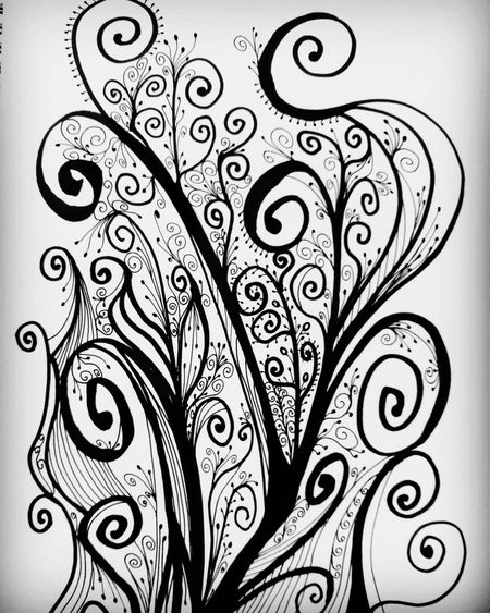 My masterpiece ArtWork Drawing Therapy Zentangle