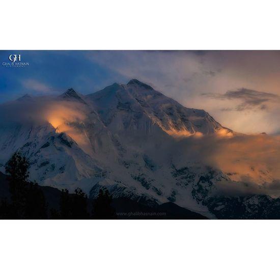 Mighty Rakaposhi Mountain Rakaposhi Nagar Hunza Sunset Pakistan Ghalibhasnainphotography