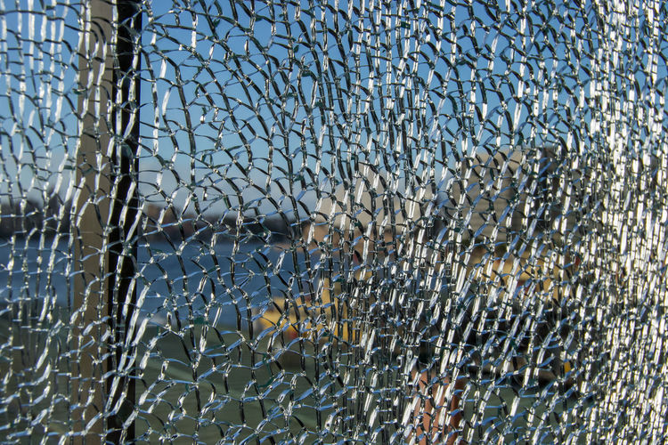 Abstract Backgrounds Breaking Broken Close-up Cracked Damaged Day Destruction Full Frame Glass Glass - Material Misfortune Nature No People Outdoors Pattern Ruined Shattered Glass Textured  Transparent Water Window