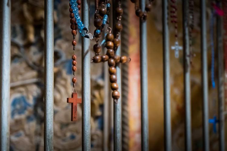 Close-up of crucifix