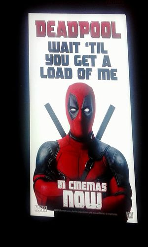 Wait Until They Get A Load Of Me Wait 'til You Get A Load Of Me CAPITAL LETTERS. WesternScript Human Representation WaitUntilTheyGetaLoadOfMe Deadpool Illuminated Signs Movie Poster MOVIE Action Movies At The Flicks Cinema Posters Movie Posters Cinema Poster Movieposter Action Movies Deadpoolquotes Deadpoolmovie Movieposters Signporn Signs Movies Signstalkers Sign Signs, Signs, & More Signs SignHunters Sign Hunters Signboard Western Script