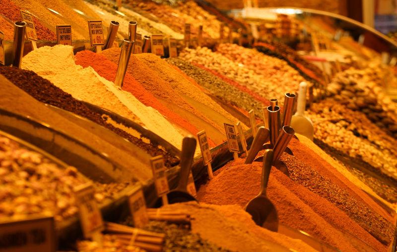 Close-up of garam masala for sale in market