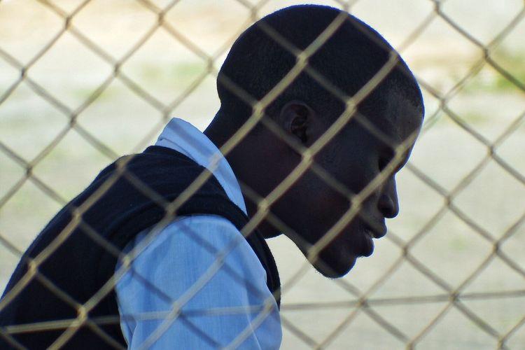 Portrait Portrait Photography Portrait Of A Man  Man Behind The Fence