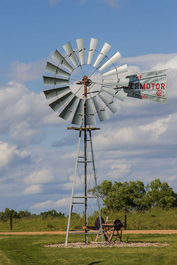 Cloud Blade Canon60d Canonphotography Day Field Galvanized Metal Old Outdoors Restored Saw Sky Tower Traditional Windmill Tree Windmill