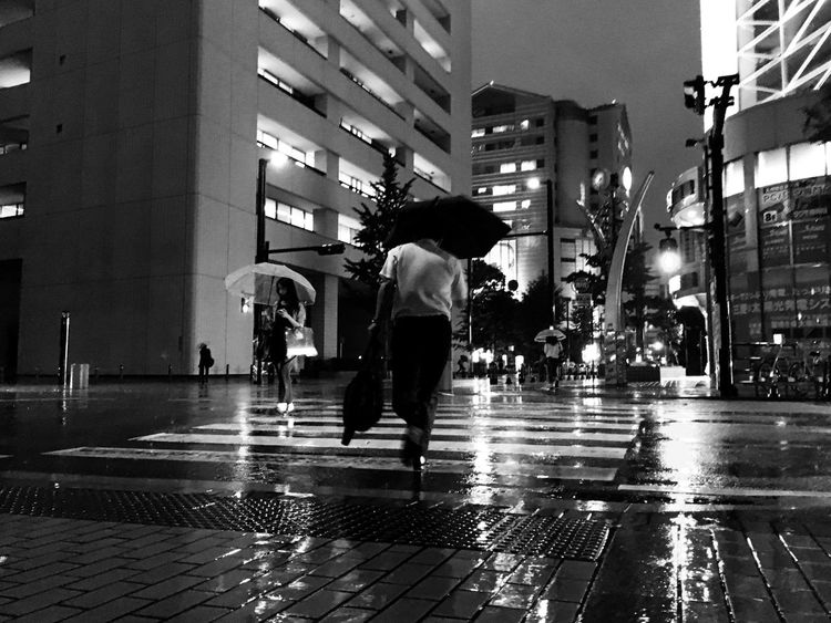 monochrome ver. Streetphotography Street Photography Streetphoto_bw Intersection Running Runningman Rain Rainy Days Blackandwhite Black And White Black & White Night Nightphotography Night View City City Street Cityscapes Eye4photography  EyeEm Gallery EyeEm Hello World  IPhoneography IPhone Showcase June