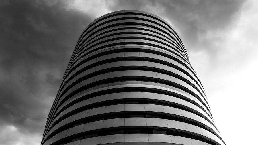Architecture Black & White EyeEm EyeEm Best Shots EyeEm Selects EyeEmBestPics Architecture Black And White Blackandwhite Photography Built Structure City Cloud - Sky Day Low Angle View Modern No People Outdoors Sky Tall - High