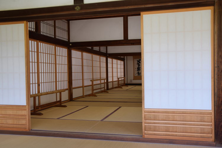 EyEmNewHere Japan Japanese Culture Kanji Quiet Tatami Tranquility Buddhist Temple Indoors  No People Shodo Silence Wood - Material Zen