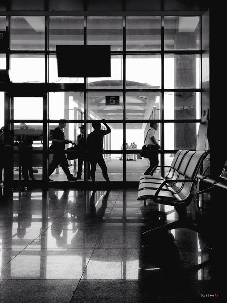 In The Terminal Taking Photos IPhoneography Iphonephotography Airport At The Airport Waiting Monochrome Blackandwhite Black And White