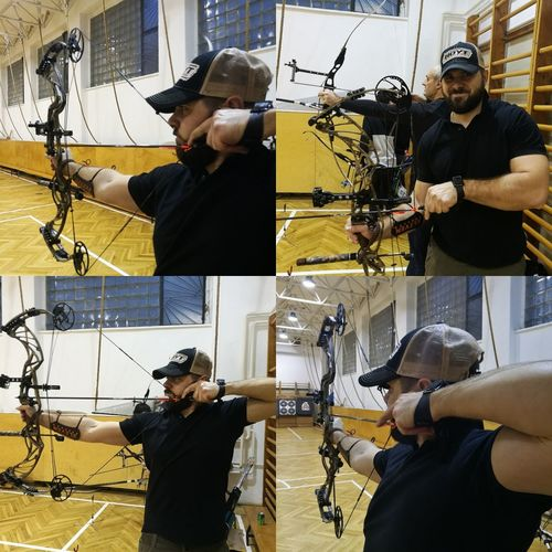 Archery Archer Hoyt Prodefiant34 Practicing Compoundbow Eastonarchery Arrows Skill  Adult Adults Only Indoors