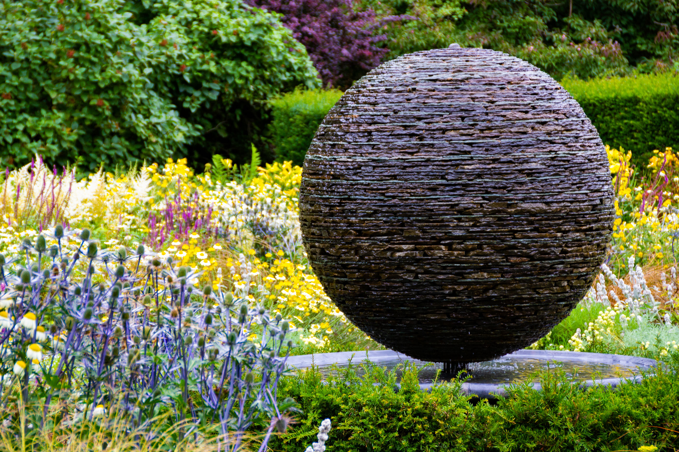 plant, nature, flower, no people, grass, flowering plant, day, beauty in nature, field, growth, land, tree, outdoors, agriculture, sunlight, freshness, circle, landscape, close-up, geometric shape, flowerbed, purple, ornamental garden