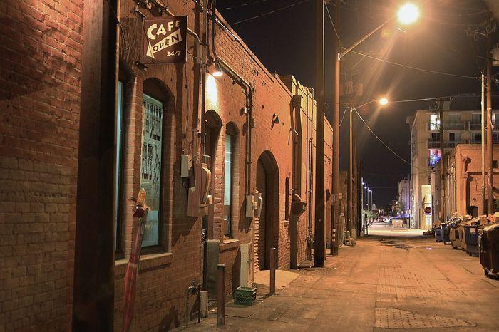 Alley Architecture Building Exterior City City Life Coffee Coffeyshop Eric Barnes Photography Night Street Street Light Learn & Shoot: After Dark The Street Photographer - 2016 EyeEm Awards