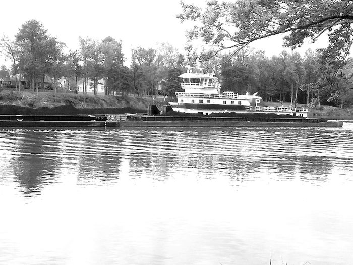 River Blackandwhite Boats Water_collection