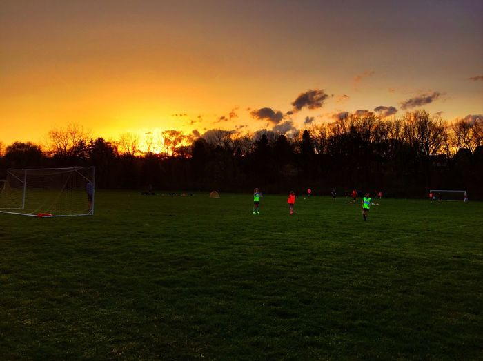 Eyeem Soccer Soccer Sky People Watching Sunset Playing EyeEm Best Shots Taking Photos Check This Out