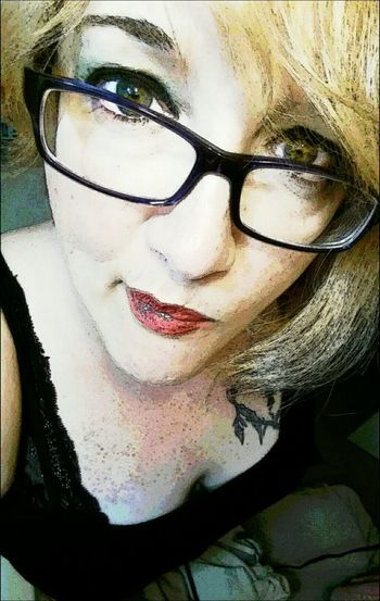 Self Portrait Selfie This Is Me Hello World Playing With Filters Woman Overfiltered Check This Out Green Eyes Today's Hot Look