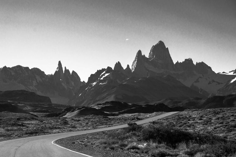 Road to El Chalten. Road Roadtrip Roadtrippin' El Chalten Rn 40 Rp 23 Fitzroy Patagonia Patagonia Argentina Blackandwhite Pretoebranco